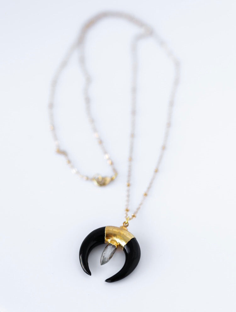 The Black-HoRn Moon Necklace