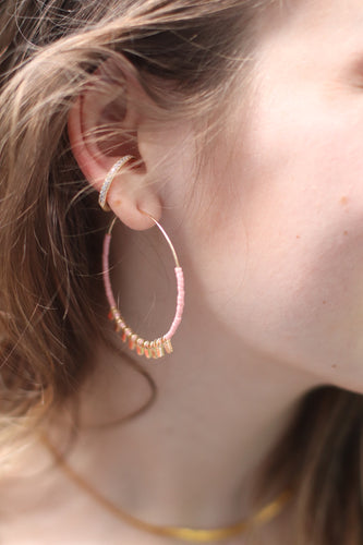 The Circle Earrings // Blush