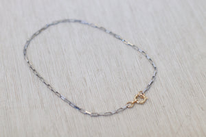 The Small Paper Clip Choker // Silver Combo