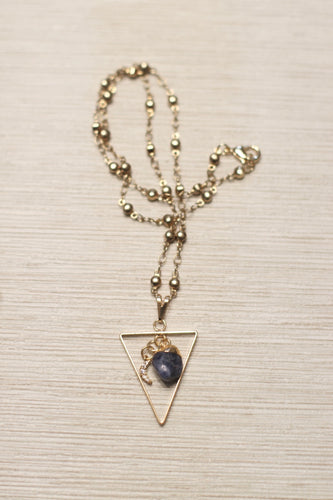 The Sodalite Moon Necklace