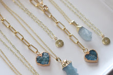 Load image into Gallery viewer, The Aqua Heart Lariat