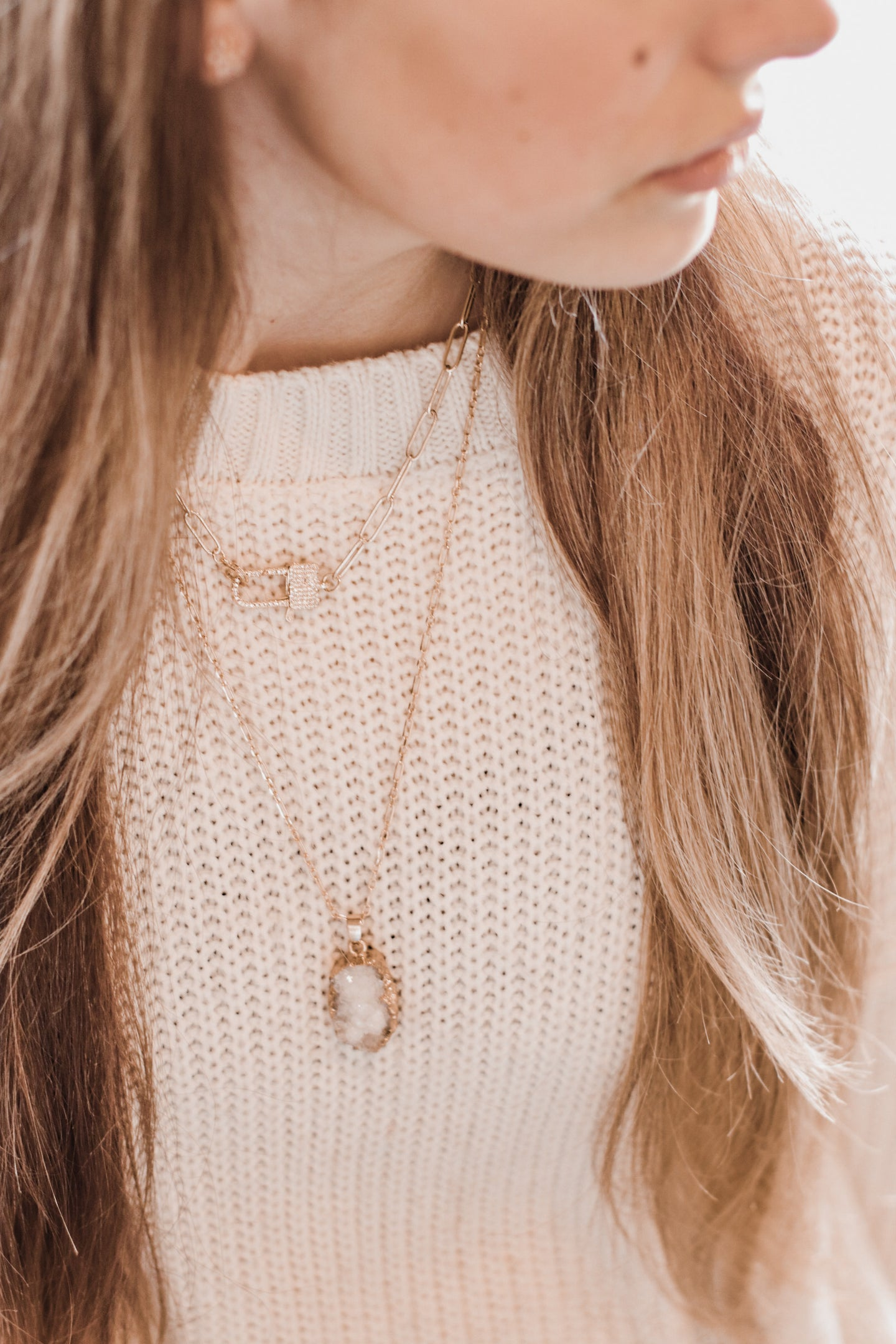 The Nugget Necklace // White