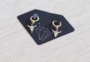 The Steer Hoop Earrings