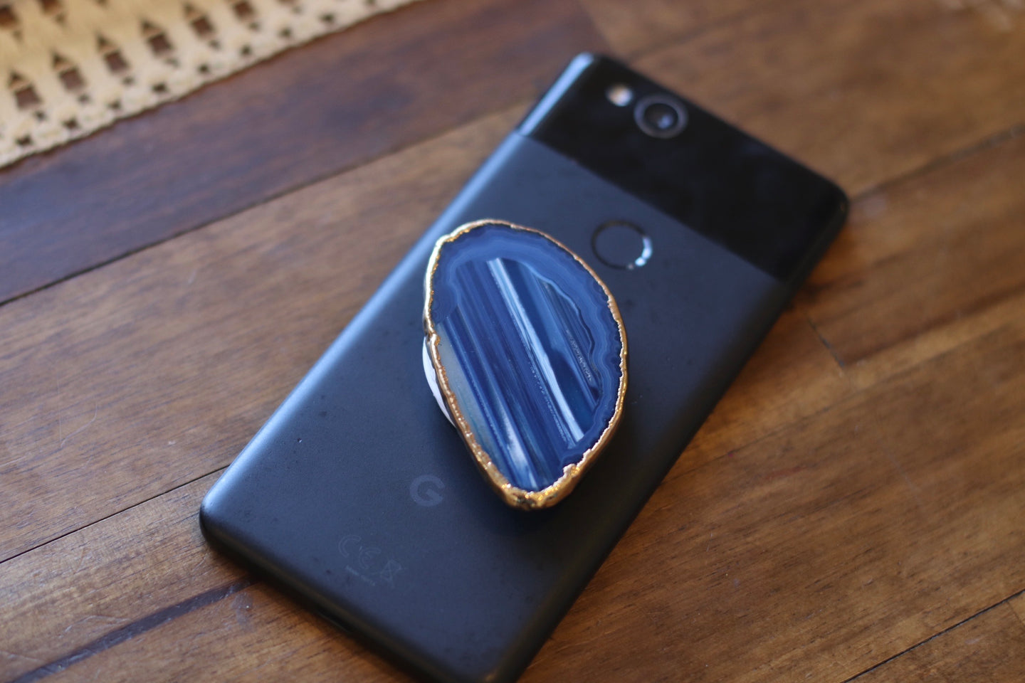 The Agate Slice Phone Grip