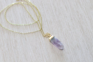 The Raw Amethyst Necklace
