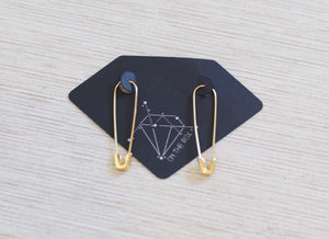 The Punk Pin-Up Earrings // Gold