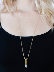 The Crystal Bullet Necklace
