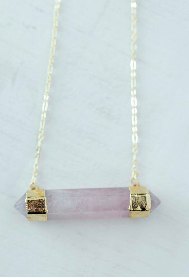 The Elouise Necklace // Rose Quartz