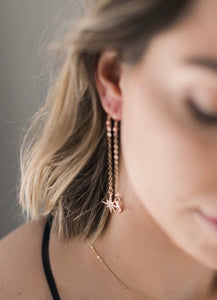 The Stellar Sky Earrings // Rose Gold
