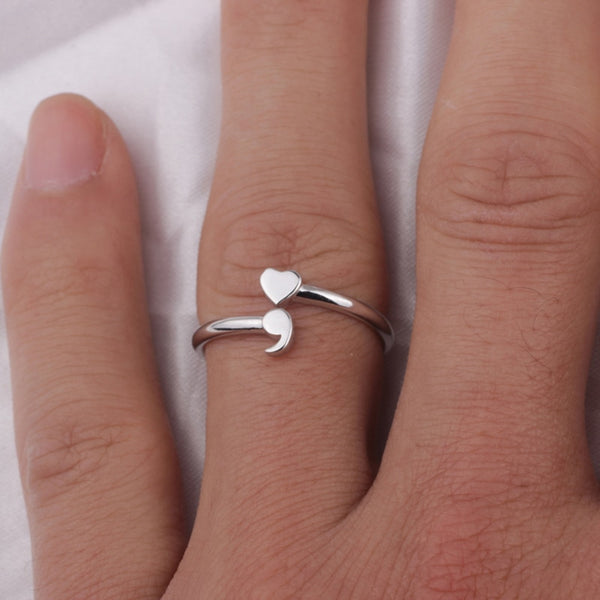 Semikolon ring 925 Sterling Silver