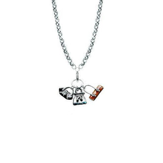 Purse Lover Charm Necklace in Silver
