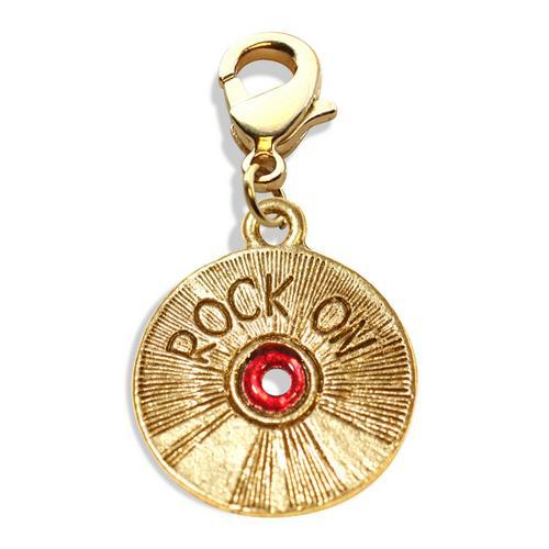 Rock On CD Charm Dangle in Gold