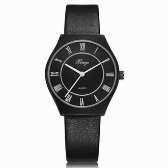 Xinge XG1093 Women Casual Leather Band Wrist Watches with Box - Black