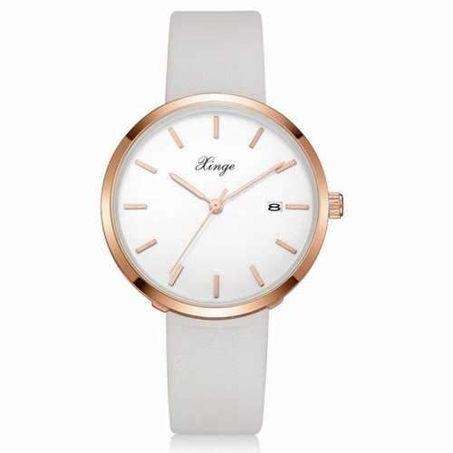 Xinge XG1091 Women Simple Casual Wrist Watches with Box - White