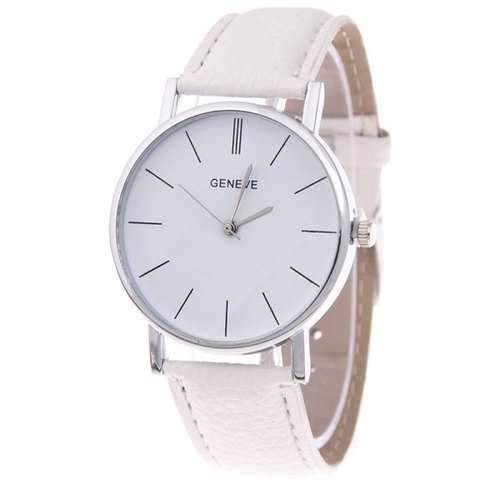 Simple and Elegant Unisex Quartz Watch - White