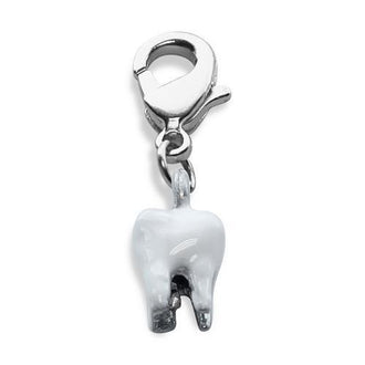 Tooth Charm Dangle in Silver
