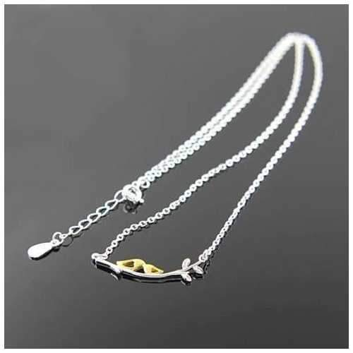Sealed With A Kiss Bird Necklace in Sterling Silver 925