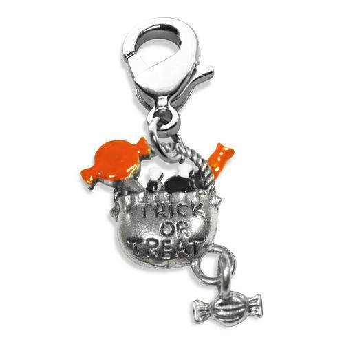 Trick or Treat Charm Dangle in Silver