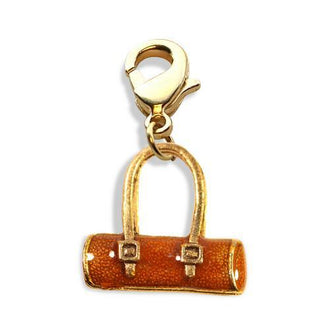 Tube Purse Charm Dangle in Gold
