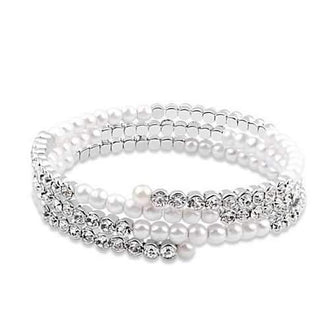 The Promise - Wrapped in Crystal and Pearls Bracelet