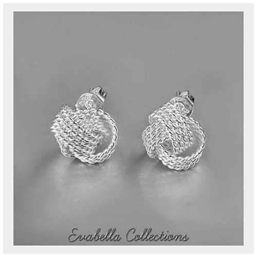 Knotty And Nice - The Knotted Rope Earrings in Silver