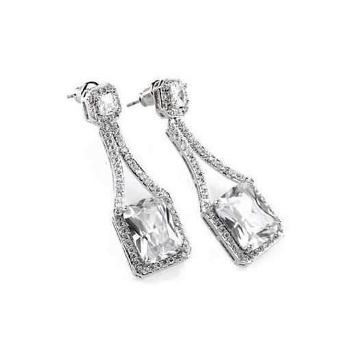 Love At First Glance - The Diamond Crystal Bridal Earrings