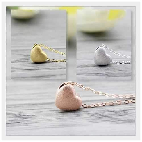 Weathered Heart Pendant & Necklace by Evabella Collections