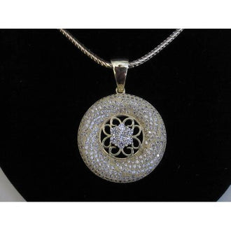"Micropave Pendant Star of David with Necklace Gold Electroplated 16"" + 2"" Extension"