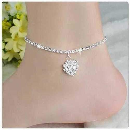 Glowing Heart Crystal Anklet