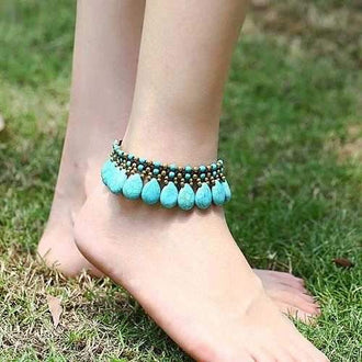 Zuni Anklets In Turquoise