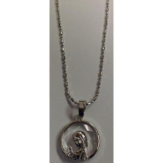 "Rhodium plated 18"" Necklace with Crystal Pendant in a Gift Box"