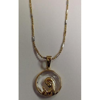 "Gold Electroplated 18"" Necklace with Crystal Pendant in a Gift Box"