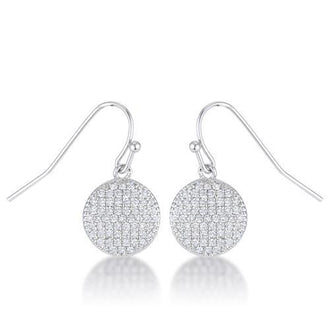 .6 Ct Elegant CZ Disk Earrings