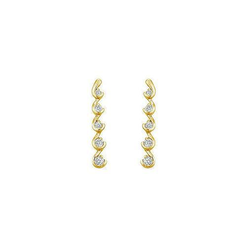 Diamond Journey Earrings : 14K Yellow Gold - 0.50 CT Diamonds