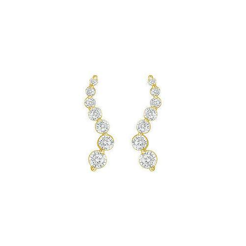 Diamond Journey Earrings : 14K Yellow Gold - 2.00 CT Diamonds