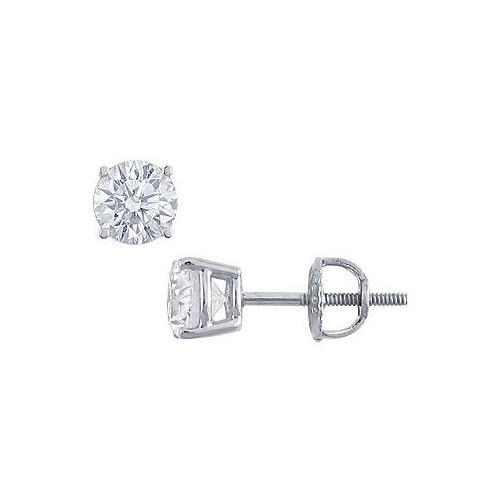 Platinum : Round Diamond Stud Earrings  1.25 CT. TW.