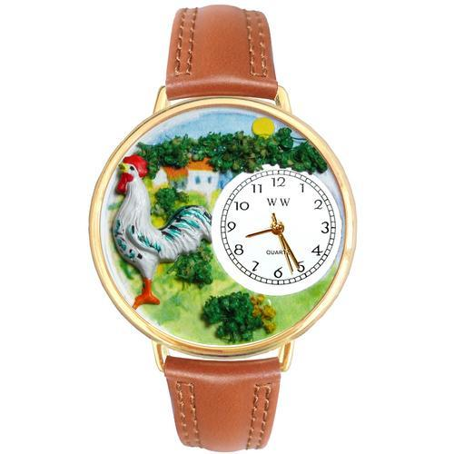 Rooster Watch in Gold (Large)