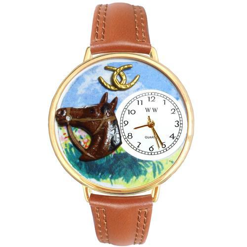 Horse Head Watch in Gold (Large)
