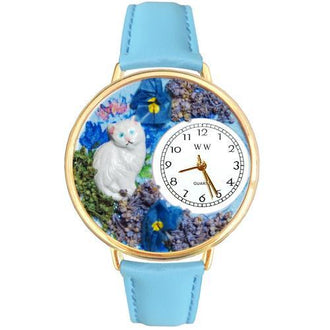 White Cat Watch in Gold (Large)