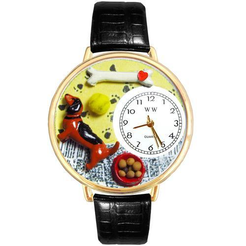Dachshund Watch in Gold (Large)