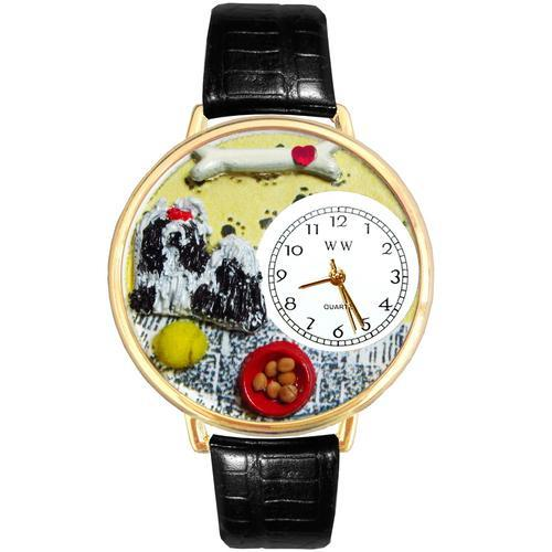 Shih Tzu Watch in Gold (Large)