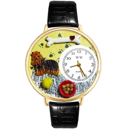 Yorkie Watch in Gold (Large)