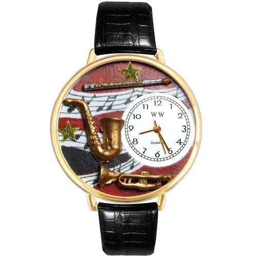 Wind Instruments Watch in Gold (Large)