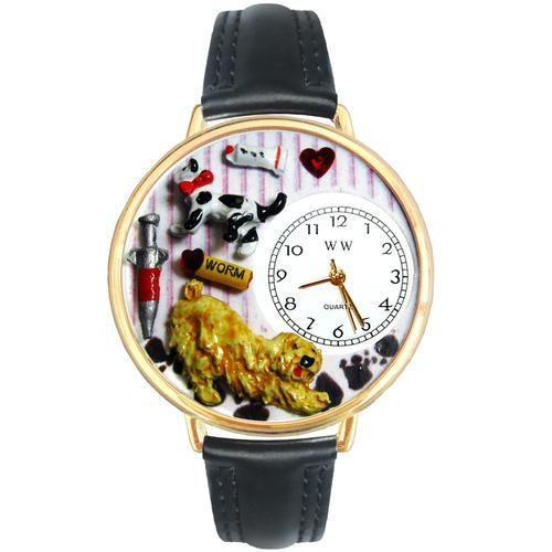 Veterinarian Watch in Gold (Large)