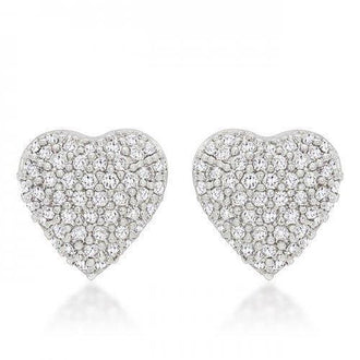 Special Pave Heart Earrings (pack of 1 ea)