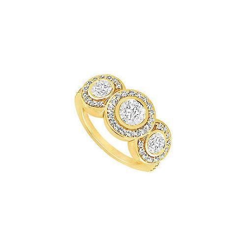 Diamond Engagement Ring : 14K Yellow Gold - 0.66 CT Diamonds