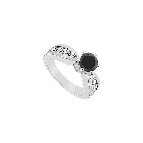 Black Diamond Ring : 14K White Gold - 1.75 CT Diamonds