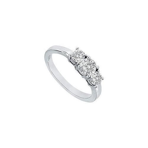 Three Stone Diamond Engagement Ring : Platinum - 1.00 CT Diamonds