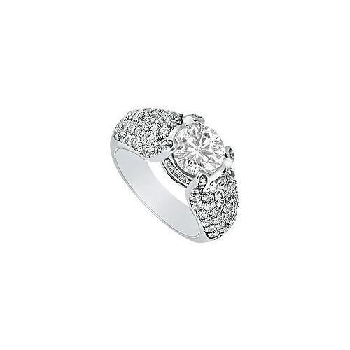 Diamond Engagement Ring : Platinum - 2.00 CT Diamonds