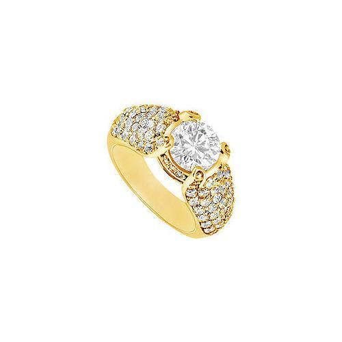 Diamond Engagement Ring : 14K Yellow Gold - 2.00 CT Diamonds